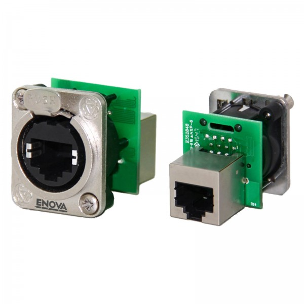 RJ45 chassis connector Cat5e feed-through